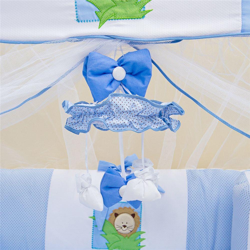 Móbile Menino Baby Zoo Azul Grão de Gente