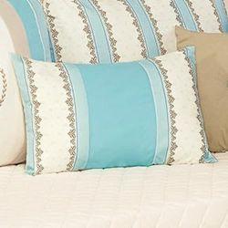 Almofada Decorativa Estampada Realeza Turquesa 50cm