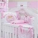Kit Berço Minha Bebê Nome Personalizado Rosa