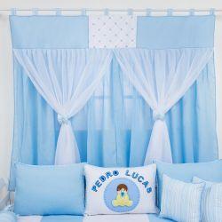 Cortina Meu Bebê Azul 1,30m