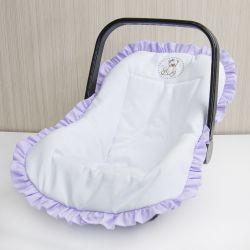 Capa de Bebê Conforto Teddy Lilás