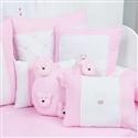 Almofadas Decorativas Teddy Rosa