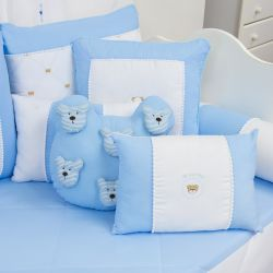 Almofadas Teddy Azul 4 Peças