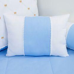 Almofada Repartições Teddy Azul 45cm