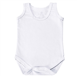 Body Regata Branco 6 a 9 Meses