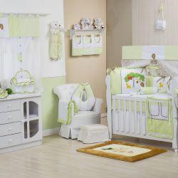 Quarto de Bebê sem Cama Babá Reino Encantado Verde