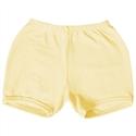 Shorts Amarelo 6 a 9 Meses