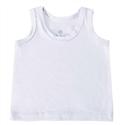 Camiseta Regata Branco 3 a 6 Meses