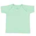 Camiseta Manga Curta Verde 3 a 6 Meses