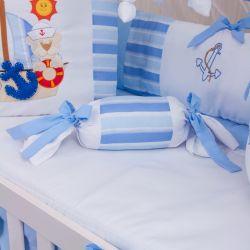 Almofada Apoio Bala Veleiro Azul Claro 62cm