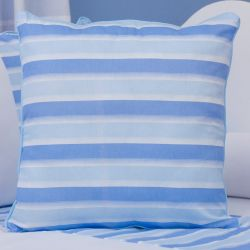 Almofada Listrada Veleiro Azul Claro 43cm