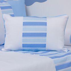 Almofada Retangular Veleiro Azul Claro 43cm