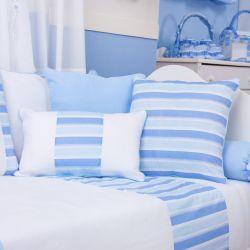 Almofadas Veleiro Azul Claro 3 Peças