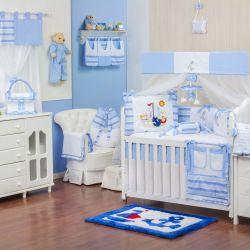 Quarto de Bebê sem Cama Babá Veleiro Azul Claro