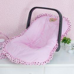 Capa de Bebê Conforto Mimos Rosa