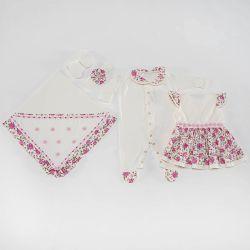 Saída Maternidade Vestido Dondoquinha Pink