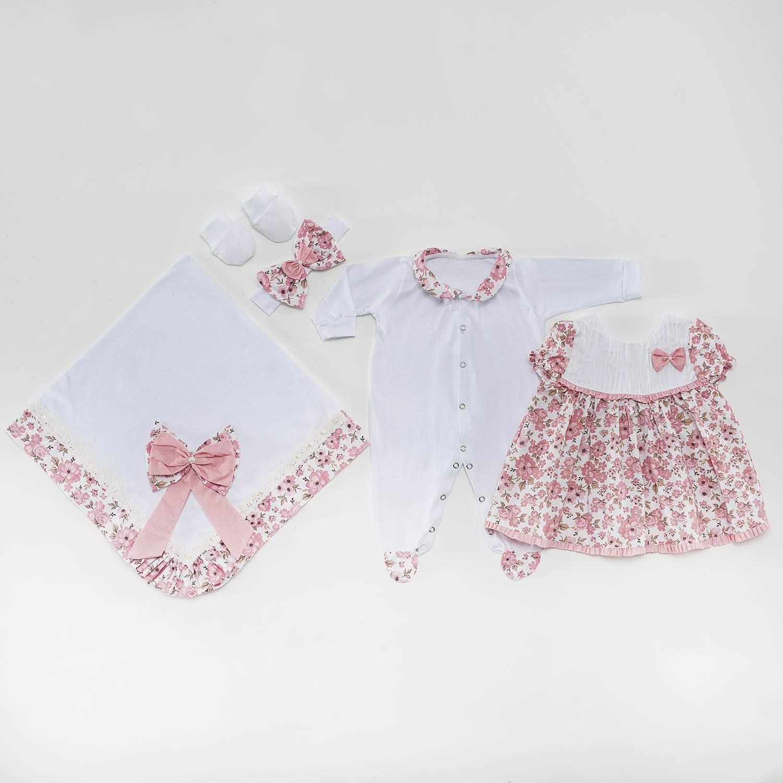 e01f5aedd Saída Maternidade Vestido Pituquinha Rosa
