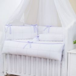 Kit Berço Clean Lilás e Branco