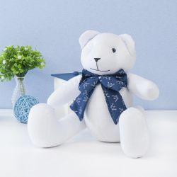 Urso Gravata Realeza Marinho 34cm
