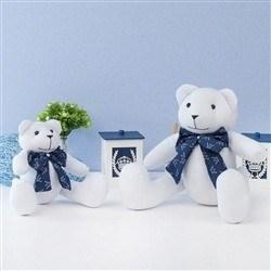 Ursos Brancos com Gravata Realeza Marinho