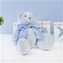 Urso Plush Listrado Azul com Gravata Azul M