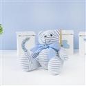 Urso Plush Listrado Azul com Gravata Azul P