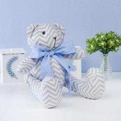 Urso Chevron Gravata Azul 34cm