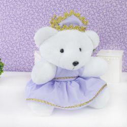 Ursa Princesa Lilás 26cm