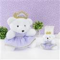 Ursas de Pelúcia Princesa Lilás
