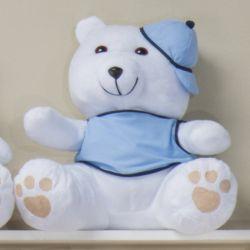 Urso Requinte com Boné Amigos Baby 31cm