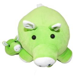 Porca com Filhote Verde 33cm