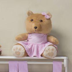 Ursa Requinte Vestidinho Rosa 31cm