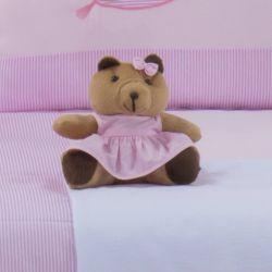 Ursa Requinte Vestidinho Rosa 15cm