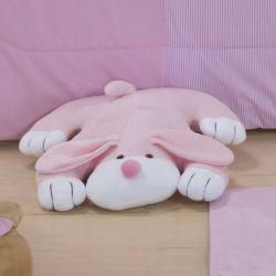 Cachorro Deitado Rosa Claro - 40cm