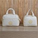 Conjunto de Bolsas Maternidade Urso Dourado Marfim