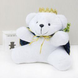 Urso Príncipe Realeza Marinho 26cm
