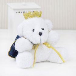 Urso Mini Príncipe Realeza Marinho 12cm