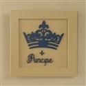 Quadro Decorativo Príncipe Marinho Premium Bege