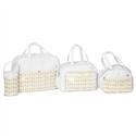 Conjunto de Bolsas Maternidade Trisse Branco