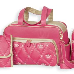 Bolsa Maternidade Master Coronate Pink 38cm