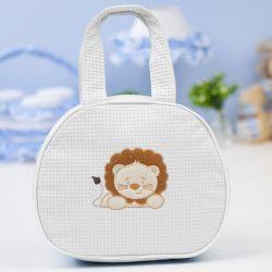 Bolsa Maternidade Leãonardo Branca 25cm
