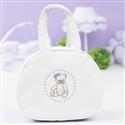 Bolsa Maternidade Teddy Branco c/ Lilás