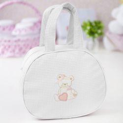 Bolsa Maternidade Ursinha Branca 25cm