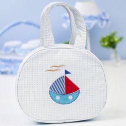 Bolsa Maternidade Jangadinha Branca 25cm