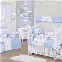 Quarto para Bebê sem Cama Babá Transportes Azul