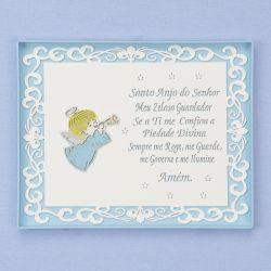 Porta Maternidade Arabesco Oração Santo Anjo Azul