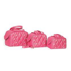 Conjunto de Bolsas Maternidade Mônaco Chiclete