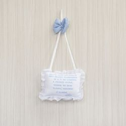 Porta Maternidade Oração Santo Anjo Brinquedos de Menino