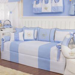 Kit Cama Babá Realeza Luxo Azul