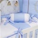 Almofada Apoio Bala Realeza Luxo Azul